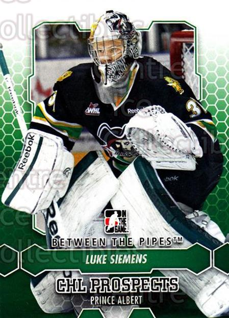 2012-13 Between The Pipes #53 Luke Siemens<br/>7 In Stock - $1.00 each - <a href=https://centericecollectibles.foxycart.com/cart?name=2012-13%20Between%20The%20Pipes%20%2353%20Luke%20Siemens...&quantity_max=7&price=$1.00&code=542123 class=foxycart> Buy it now! </a>