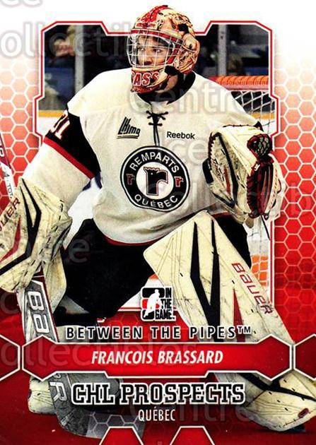 2012-13 Between The Pipes #56 Francois Brassard<br/>8 In Stock - $1.00 each - <a href=https://centericecollectibles.foxycart.com/cart?name=2012-13%20Between%20The%20Pipes%20%2356%20Francois%20Brassa...&quantity_max=8&price=$1.00&code=542126 class=foxycart> Buy it now! </a>