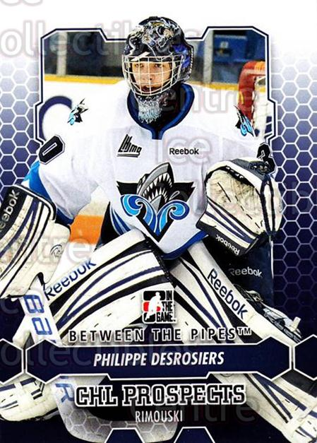 2012-13 Between The Pipes #59 Philippe Desrosiers<br/>9 In Stock - $1.00 each - <a href=https://centericecollectibles.foxycart.com/cart?name=2012-13%20Between%20The%20Pipes%20%2359%20Philippe%20Desros...&quantity_max=9&price=$1.00&code=542129 class=foxycart> Buy it now! </a>