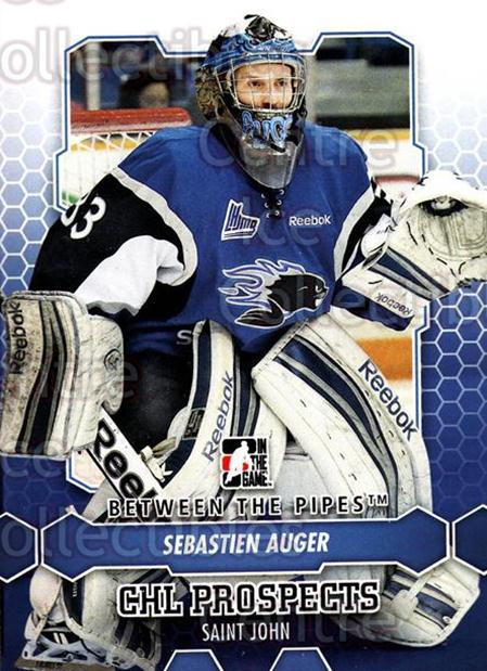 2012-13 Between The Pipes #64 Sebastien Auger<br/>9 In Stock - $1.00 each - <a href=https://centericecollectibles.foxycart.com/cart?name=2012-13%20Between%20The%20Pipes%20%2364%20Sebastien%20Auger...&quantity_max=9&price=$1.00&code=542134 class=foxycart> Buy it now! </a>