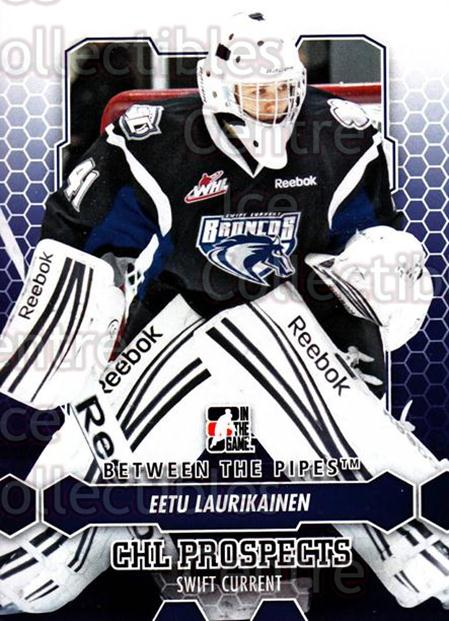 2012-13 Between The Pipes #73 Eetu Laurikainen<br/>10 In Stock - $1.00 each - <a href=https://centericecollectibles.foxycart.com/cart?name=2012-13%20Between%20The%20Pipes%20%2373%20Eetu%20Laurikaine...&quantity_max=10&price=$1.00&code=542143 class=foxycart> Buy it now! </a>