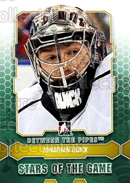 2012-13 Between The Pipes #89 Jonathan Quick<br/>7 In Stock - $1.00 each - <a href=https://centericecollectibles.foxycart.com/cart?name=2012-13%20Between%20The%20Pipes%20%2389%20Jonathan%20Quick...&quantity_max=7&price=$1.00&code=542159 class=foxycart> Buy it now! </a>
