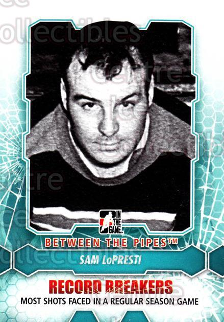 2012-13 Between The Pipes #188 Sam LoPresti<br/>7 In Stock - $1.00 each - <a href=https://centericecollectibles.foxycart.com/cart?name=2012-13%20Between%20The%20Pipes%20%23188%20Sam%20LoPresti...&quantity_max=7&price=$1.00&code=542258 class=foxycart> Buy it now! </a>