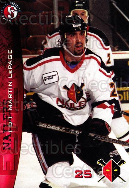 1996-97 Wheeling Nailers #12 Martin Lepage<br/>1 In Stock - $3.00 each - <a href=https://centericecollectibles.foxycart.com/cart?name=1996-97%20Wheeling%20Nailers%20%2312%20Martin%20Lepage...&quantity_max=1&price=$3.00&code=54254 class=foxycart> Buy it now! </a>