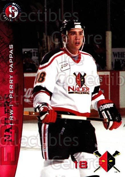 1996-97 Wheeling Nailers #16 Perry Pappas<br/>3 In Stock - $3.00 each - <a href=https://centericecollectibles.foxycart.com/cart?name=1996-97%20Wheeling%20Nailers%20%2316%20Perry%20Pappas...&quantity_max=3&price=$3.00&code=54257 class=foxycart> Buy it now! </a>