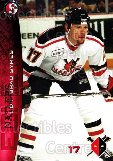 1996-97 Wheeling Nailers #18 Brad Symes<br/>3 In Stock - $3.00 each - <a href=https://centericecollectibles.foxycart.com/cart?name=1996-97%20Wheeling%20Nailers%20%2318%20Brad%20Symes...&quantity_max=3&price=$3.00&code=54259 class=foxycart> Buy it now! </a>