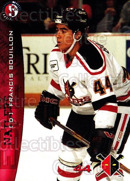 1996-97 Wheeling Nailers #5 Francis Bouillon<br/>3 In Stock - $3.00 each - <a href=https://centericecollectibles.foxycart.com/cart?name=1996-97%20Wheeling%20Nailers%20%235%20Francis%20Bouillo...&quantity_max=3&price=$3.00&code=54268 class=foxycart> Buy it now! </a>