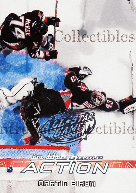 2003-04 ITG Action AS Game Fantasy #56 Martin Biron<br/>1 In Stock - $3.00 each - <a href=https://centericecollectibles.foxycart.com/cart?name=2003-04%20ITG%20Action%20AS%20Game%20Fantasy%20%2356%20Martin%20Biron...&quantity_max=1&price=$3.00&code=542943 class=foxycart> Buy it now! </a>