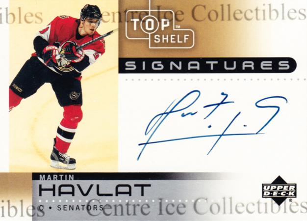 2002-03 UD Top Shelf Signatures #HA Martin Havlat<br/>1 In Stock - $5.00 each - <a href=https://centericecollectibles.foxycart.com/cart?name=2002-03%20UD%20Top%20Shelf%20Signatures%20%23HA%20Martin%20Havlat...&quantity_max=1&price=$5.00&code=543242 class=foxycart> Buy it now! </a>