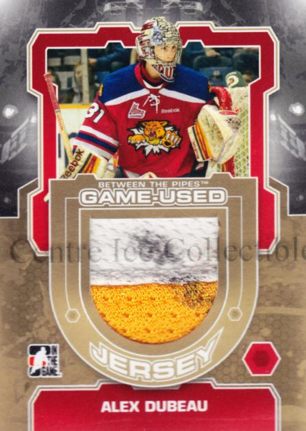 2012-13 Between The Pipes Jersey Gold #19 Alex Dubeau<br/>1 In Stock - $15.00 each - <a href=https://centericecollectibles.foxycart.com/cart?name=2012-13%20Between%20The%20Pipes%20Jersey%20Gold%20%2319%20Alex%20Dubeau...&quantity_max=1&price=$15.00&code=544091 class=foxycart> Buy it now! </a>