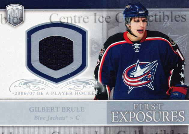 2006-07 Be A Player Portraits First Exposures Jersey #FEGB Gilbert Brule<br/>1 In Stock - $5.00 each - <a href=https://centericecollectibles.foxycart.com/cart?name=2006-07%20Be%20A%20Player%20Portraits%20First%20Exposures%20Jersey%20%23FEGB%20Gilbert%20Brule...&quantity_max=1&price=$5.00&code=544533 class=foxycart> Buy it now! </a>