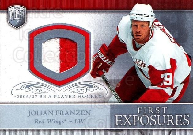 2006-07 Be A Player Portraits First Exposures Jersey #FEJF Johan Franzen<br/>1 In Stock - $5.00 each - <a href=https://centericecollectibles.foxycart.com/cart?name=2006-07%20Be%20A%20Player%20Portraits%20First%20Exposures%20Jersey%20%23FEJF%20Johan%20Franzen...&quantity_max=1&price=$5.00&code=544537 class=foxycart> Buy it now! </a>