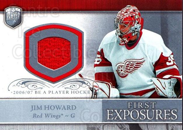 2006-07 Be A Player Portraits First Exposures Jersey #FEJH Jim Howard<br/>2 In Stock - $5.00 each - <a href=https://centericecollectibles.foxycart.com/cart?name=2006-07%20Be%20A%20Player%20Portraits%20First%20Exposures%20Jersey%20%23FEJH%20Jim%20Howard...&quantity_max=2&price=$5.00&code=544539 class=foxycart> Buy it now! </a>