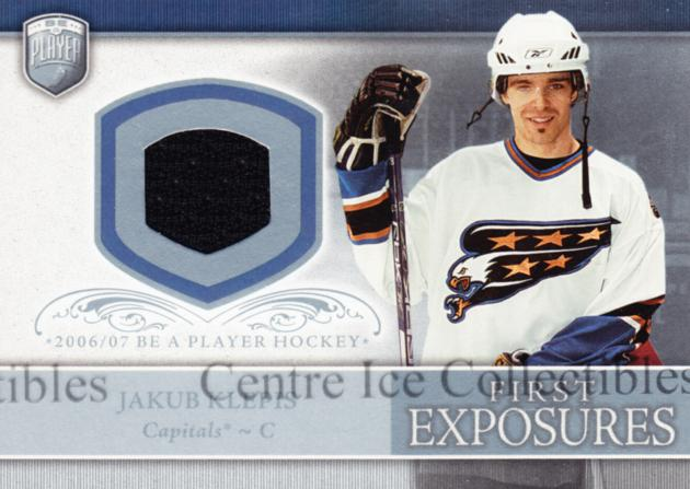 2006-07 Be A Player Portraits First Exposures Jersey #FEJK Jakub Klepis<br/>2 In Stock - $5.00 each - <a href=https://centericecollectibles.foxycart.com/cart?name=2006-07%20Be%20A%20Player%20Portraits%20First%20Exposures%20Jersey%20%23FEJK%20Jakub%20Klepis...&quantity_max=2&price=$5.00&code=544541 class=foxycart> Buy it now! </a>