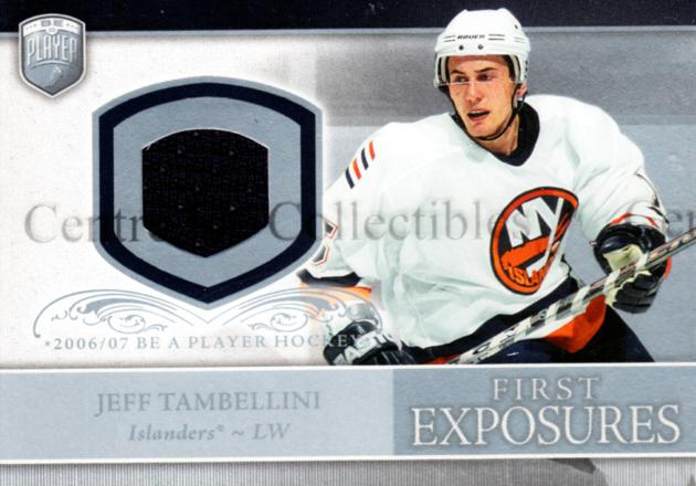 2006-07 Be A Player Portraits First Exposures Jersey #FEJT Jeff Tambellini<br/>3 In Stock - $5.00 each - <a href=https://centericecollectibles.foxycart.com/cart?name=2006-07%20Be%20A%20Player%20Portraits%20First%20Exposures%20Jersey%20%23FEJT%20Jeff%20Tambellini...&quantity_max=3&price=$5.00&code=544542 class=foxycart> Buy it now! </a>
