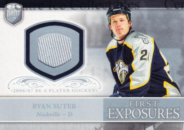 2006-07 Be A Player Portraits First Exposures Jersey #FERS Ryan Suter<br/>3 In Stock - $5.00 each - <a href=https://centericecollectibles.foxycart.com/cart?name=2006-07%20Be%20A%20Player%20Portraits%20First%20Exposures%20Jersey%20%23FERS%20Ryan%20Suter...&quantity_max=3&price=$5.00&code=544551 class=foxycart> Buy it now! </a>