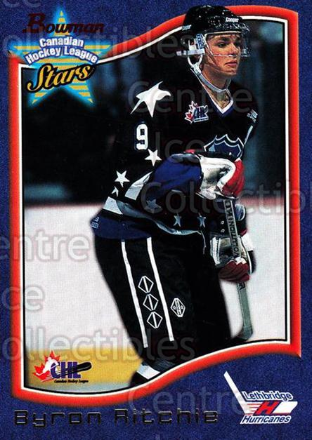 1997 Bowman CHL #108 Byron Ritchie<br/>13 In Stock - $1.00 each - <a href=https://centericecollectibles.foxycart.com/cart?name=1997%20Bowman%20CHL%20%23108%20Byron%20Ritchie...&quantity_max=13&price=$1.00&code=54525 class=foxycart> Buy it now! </a>