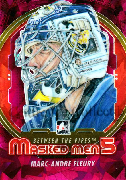 2012-13 Between The Pipes Masked Men V Rainbow #10 Marc-Andre Fleury<br/>1 In Stock - $5.00 each - <a href=https://centericecollectibles.foxycart.com/cart?name=2012-13%20Between%20The%20Pipes%20Masked%20Men%20V%20Rainbow%20%2310%20Marc-Andre%20Fleu...&quantity_max=1&price=$5.00&code=545608 class=foxycart> Buy it now! </a>
