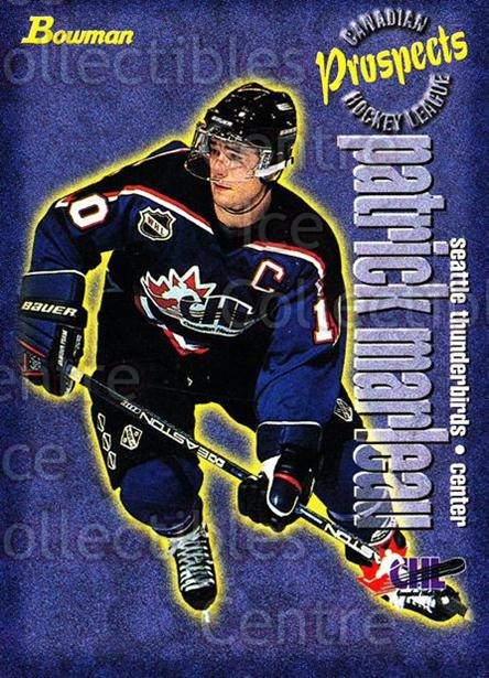 1997 Bowman CHL #141 Patrick Marleau<br/>10 In Stock - $1.00 each - <a href=https://centericecollectibles.foxycart.com/cart?name=1997%20Bowman%20CHL%20%23141%20Patrick%20Marleau...&quantity_max=10&price=$1.00&code=54560 class=foxycart> Buy it now! </a>