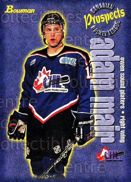 1997 Bowman CHL #144 Adam Mair<br/>15 In Stock - $1.00 each - <a href=https://centericecollectibles.foxycart.com/cart?name=1997%20Bowman%20CHL%20%23144%20Adam%20Mair...&quantity_max=15&price=$1.00&code=54563 class=foxycart> Buy it now! </a>