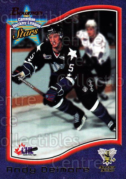 1997 Bowman CHL #34 Andy Delmore<br/>13 In Stock - $1.00 each - <a href=https://centericecollectibles.foxycart.com/cart?name=1997%20Bowman%20CHL%20%2334%20Andy%20Delmore...&quantity_max=13&price=$1.00&code=54599 class=foxycart> Buy it now! </a>