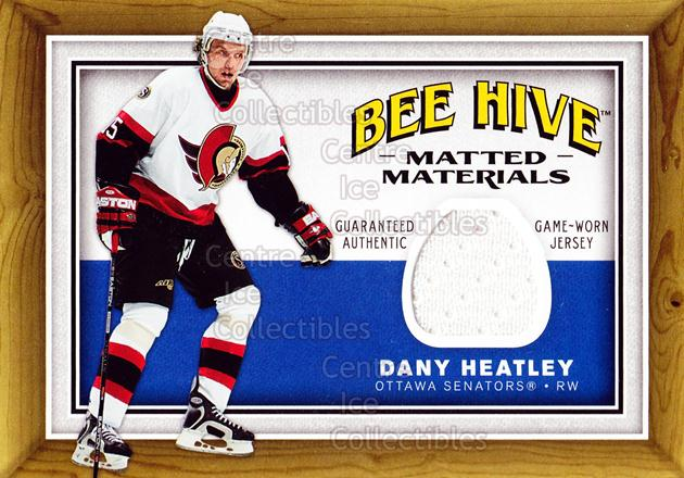 2006-07 Beehive Matted Materials #MMDH Dany Heatley<br/>1 In Stock - $5.00 each - <a href=https://centericecollectibles.foxycart.com/cart?name=2006-07%20Beehive%20Matted%20Materials%20%23MMDH%20Dany%20Heatley...&quantity_max=1&price=$5.00&code=546025 class=foxycart> Buy it now! </a>