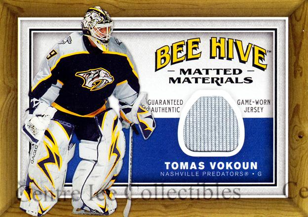 2006-07 Beehive Matted Materials #MMTV Tomas Vokoun<br/>1 In Stock - $5.00 each - <a href=https://centericecollectibles.foxycart.com/cart?name=2006-07%20Beehive%20Matted%20Materials%20%23MMTV%20Tomas%20Vokoun...&quantity_max=1&price=$5.00&code=546069 class=foxycart> Buy it now! </a>