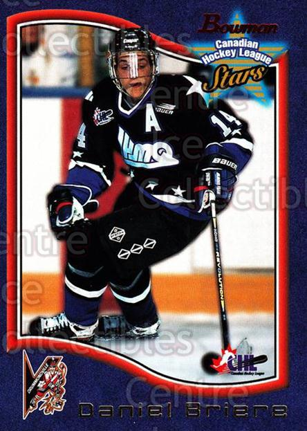 1997 Bowman CHL #50 Daniel Briere<br/>14 In Stock - $1.00 each - <a href=https://centericecollectibles.foxycart.com/cart?name=1997%20Bowman%20CHL%20%2350%20Daniel%20Briere...&quantity_max=14&price=$1.00&code=54616 class=foxycart> Buy it now! </a>