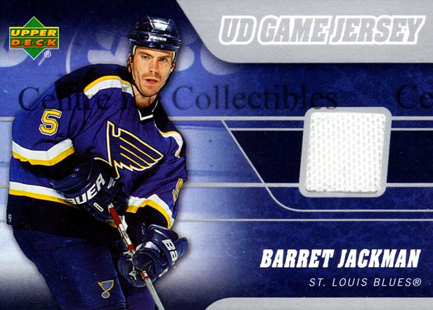 2006-07 Upper Deck Jersey Series One #JBA Barret Jackman<br/>1 In Stock - $5.00 each - <a href=https://centericecollectibles.foxycart.com/cart?name=2006-07%20Upper%20Deck%20Jersey%20Series%20One%20%23JBA%20Barret%20Jackman...&quantity_max=1&price=$5.00&code=546355 class=foxycart> Buy it now! </a>