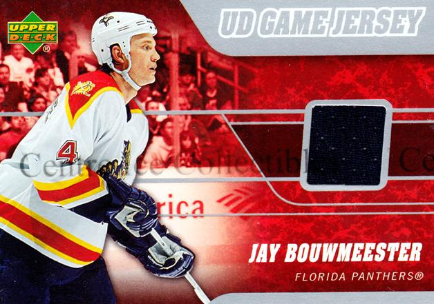 2006-07 Upper Deck Jersey Series One #JJB Jay Bouwmeester<br/>1 In Stock - $5.00 each - <a href=https://centericecollectibles.foxycart.com/cart?name=2006-07%20Upper%20Deck%20Jersey%20Series%20One%20%23JJB%20Jay%20Bouwmeester...&quantity_max=1&price=$5.00&code=546387 class=foxycart> Buy it now! </a>