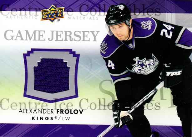 2007-08 Upper Deck Jersey Series Two #GJ2AF Alexander Frolov<br/>1 In Stock - $5.00 each - <a href=https://centericecollectibles.foxycart.com/cart?name=2007-08%20Upper%20Deck%20Jersey%20Series%20Two%20%23GJ2AF%20Alexander%20Frolo...&quantity_max=1&price=$5.00&code=546644 class=foxycart> Buy it now! </a>
