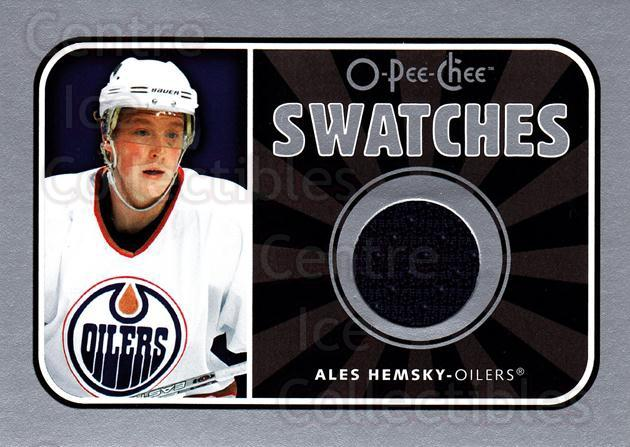 2006-07 O-Pee-Chee Swatches #SAH Ales Hemsky<br/>2 In Stock - $5.00 each - <a href=https://centericecollectibles.foxycart.com/cart?name=2006-07%20O-Pee-Chee%20Swatches%20%23SAH%20Ales%20Hemsky...&quantity_max=2&price=$5.00&code=546909 class=foxycart> Buy it now! </a>