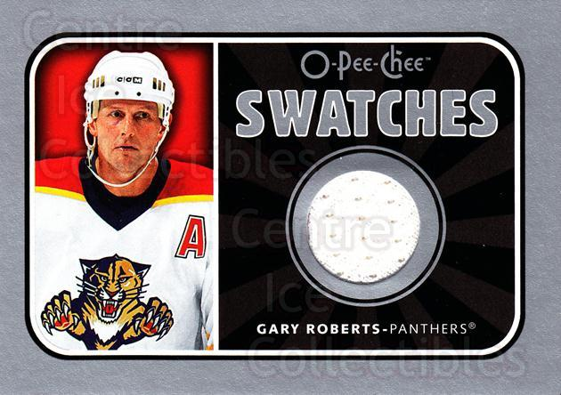 2006-07 O-Pee-Chee Swatches #SGR Gary Roberts<br/>1 In Stock - $5.00 each - <a href=https://centericecollectibles.foxycart.com/cart?name=2006-07%20O-Pee-Chee%20Swatches%20%23SGR%20Gary%20Roberts...&quantity_max=1&price=$5.00&code=546935 class=foxycart> Buy it now! </a>