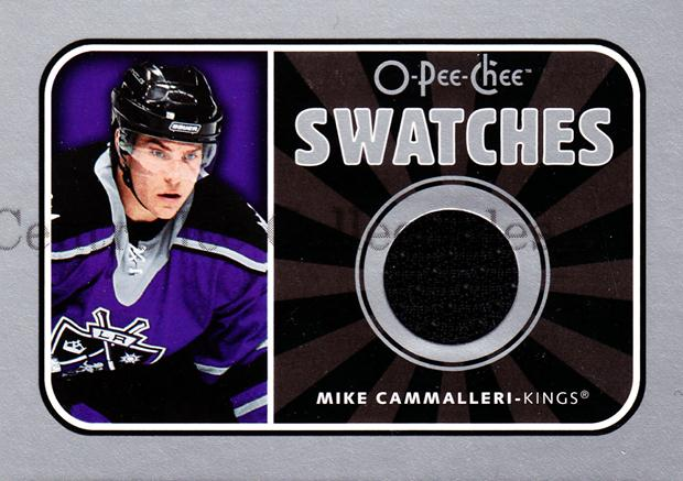 2006-07 O-Pee-Chee Swatches #SMC Mike Cammalleri<br/>1 In Stock - $5.00 each - <a href=https://centericecollectibles.foxycart.com/cart?name=2006-07%20O-Pee-Chee%20Swatches%20%23SMC%20Mike%20Cammalleri...&quantity_max=1&price=$5.00&code=546956 class=foxycart> Buy it now! </a>