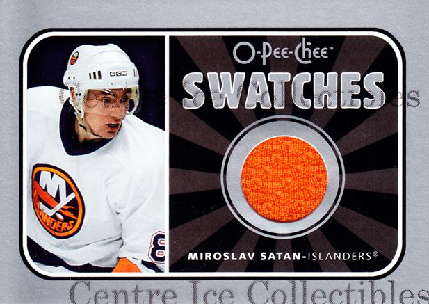 2006-07 O-Pee-Chee Swatches #SMI Miroslav Satan<br/>1 In Stock - $5.00 each - <a href=https://centericecollectibles.foxycart.com/cart?name=2006-07%20O-Pee-Chee%20Swatches%20%23SMI%20Miroslav%20Satan...&quantity_max=1&price=$5.00&code=546961 class=foxycart> Buy it now! </a>