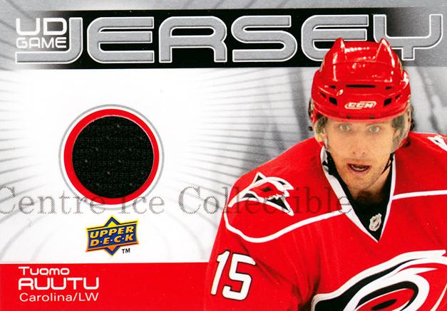 2010-11 Upper Deck Jersey Series One #GJTR Tuomo Ruutu<br/>1 In Stock - $5.00 each - <a href=https://centericecollectibles.foxycart.com/cart?name=2010-11%20Upper%20Deck%20Jersey%20Series%20One%20%23GJTR%20Tuomo%20Ruutu...&quantity_max=1&price=$5.00&code=547244 class=foxycart> Buy it now! </a>