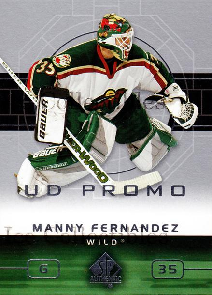 2002-03 Sp Authentic UD Promo #45 Manny Fernandez<br/>1 In Stock - $3.00 each - <a href=https://centericecollectibles.foxycart.com/cart?name=2002-03%20Sp%20Authentic%20UD%20Promo%20%2345%20Manny%20Fernandez...&quantity_max=1&price=$3.00&code=547711 class=foxycart> Buy it now! </a>