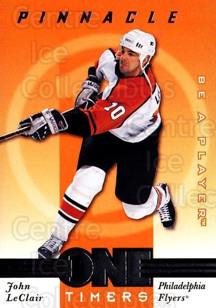 1997-98 Be A Player One Timers #9 John LeClair<br/>10 In Stock - $3.00 each - <a href=https://centericecollectibles.foxycart.com/cart?name=1997-98%20Be%20A%20Player%20One%20Timers%20%239%20John%20LeClair...&quantity_max=10&price=$3.00&code=54771 class=foxycart> Buy it now! </a>