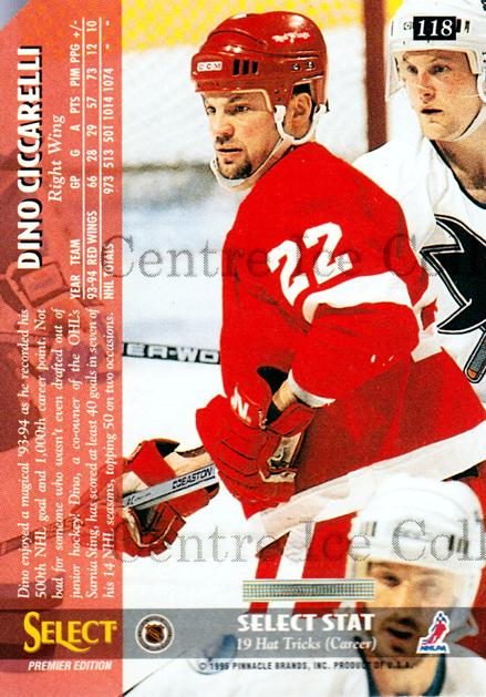 1994-95 Select Promos #118 Dino Ciccarelli<br/>1 In Stock - $3.00 each - <a href=https://centericecollectibles.foxycart.com/cart?name=1994-95%20Select%20Promos%20%23118%20Dino%20Ciccarelli...&quantity_max=1&price=$3.00&code=547796 class=foxycart> Buy it now! </a>
