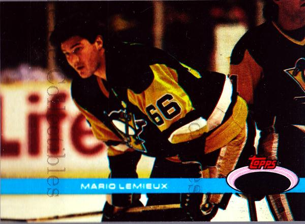 1991 Stadium Club Charter Member Double Asterisk Promo #9 Mario Lemieux<br/>37 In Stock - $5.00 each - <a href=https://centericecollectibles.foxycart.com/cart?name=1991%20Stadium%20Club%20Charter%20Member%20Double%20Asterisk%20Promo%20%239%20Mario%20Lemieux...&price=$5.00&code=547814 class=foxycart> Buy it now! </a>