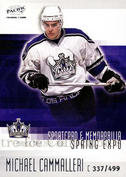 2003 Pacific Toronto Spring Expo Redemption #6 Mike Cammalleri<br/>3 In Stock - $3.00 each - <a href=https://centericecollectibles.foxycart.com/cart?name=2003%20Pacific%20Toronto%20Spring%20Expo%20Redemption%20%236%20Mike%20Cammalleri...&quantity_max=3&price=$3.00&code=547821 class=foxycart> Buy it now! </a>