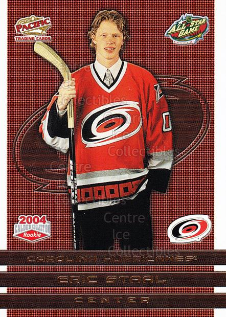 2004 Pacific Calder AS Redemption Gold #3 Eric Staal<br/>3 In Stock - $3.00 each - <a href=https://centericecollectibles.foxycart.com/cart?name=2004%20Pacific%20Calder%20AS%20Redemption%20Gold%20%233%20Eric%20Staal...&quantity_max=3&price=$3.00&code=547831 class=foxycart> Buy it now! </a>