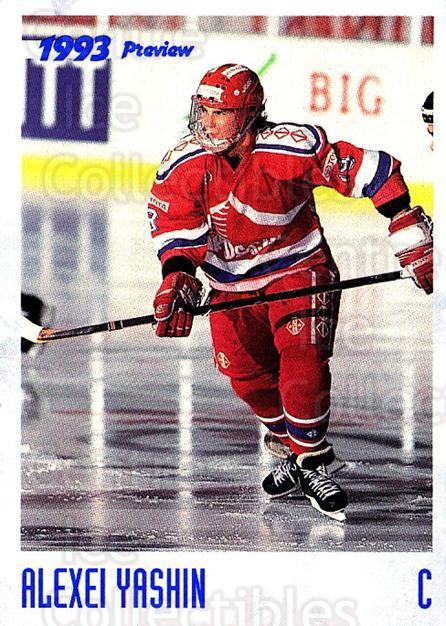 1993 Classic Hockey Draft Promos Preview #nno Alexei Yashin<br/>2 In Stock - $3.00 each - <a href=https://centericecollectibles.foxycart.com/cart?name=1993%20Classic%20Hockey%20Draft%20Promos%20Preview%20%23nno%20Alexei%20Yashin...&quantity_max=2&price=$3.00&code=547913 class=foxycart> Buy it now! </a>