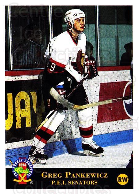 1994 Classic Pro Prospects #57 Greg Pankewicz<br/>1 In Stock - $1.00 each - <a href=https://centericecollectibles.foxycart.com/cart?name=1994%20Classic%20Pro%20Prospects%20%2357%20Greg%20Pankewicz...&quantity_max=1&price=$1.00&code=547923 class=foxycart> Buy it now! </a>