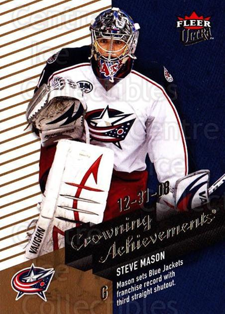 2009-10 Ultra Crowning Achievements #1 Steve Mason<br/>1 In Stock - $3.00 each - <a href=https://centericecollectibles.foxycart.com/cart?name=2009-10%20Ultra%20Crowning%20Achievements%20%231%20Steve%20Mason...&quantity_max=1&price=$3.00&code=549118 class=foxycart> Buy it now! </a>