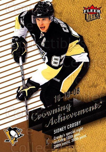 2009-10 Ultra Crowning Achievements #3 Sidney Crosby<br/>1 In Stock - $5.00 each - <a href=https://centericecollectibles.foxycart.com/cart?name=2009-10%20Ultra%20Crowning%20Achievements%20%233%20Sidney%20Crosby...&quantity_max=1&price=$5.00&code=549120 class=foxycart> Buy it now! </a>