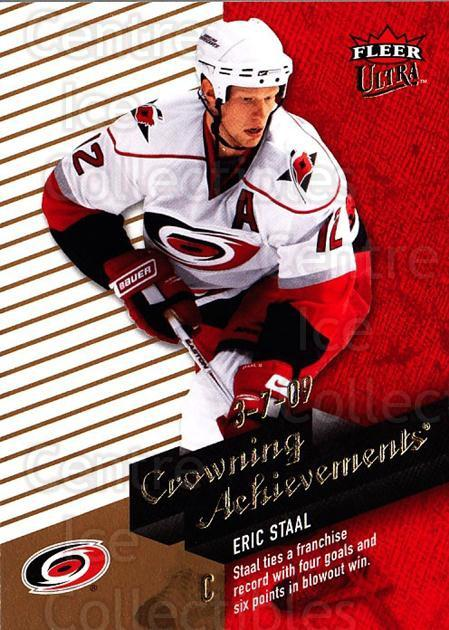 2009-10 Ultra Crowning Achievements #7 Eric Staal<br/>1 In Stock - $3.00 each - <a href=https://centericecollectibles.foxycart.com/cart?name=2009-10%20Ultra%20Crowning%20Achievements%20%237%20Eric%20Staal...&quantity_max=1&price=$3.00&code=549124 class=foxycart> Buy it now! </a>