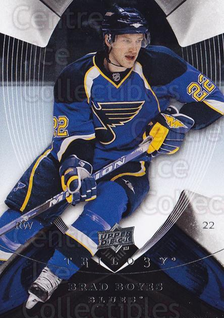 2008-09 UD Trilogy #7 Brad Boyes<br/>2 In Stock - $1.00 each - <a href=https://centericecollectibles.foxycart.com/cart?name=2008-09%20UD%20Trilogy%20%237%20Brad%20Boyes...&quantity_max=2&price=$1.00&code=550528 class=foxycart> Buy it now! </a>