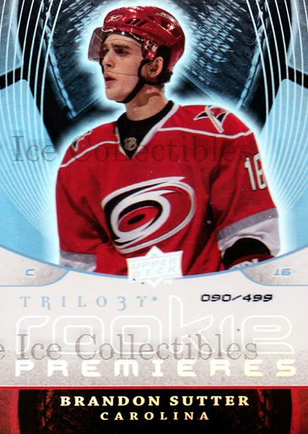 2008-09 UD Trilogy #173 Brandon Sutter<br/>1 In Stock - $5.00 each - <a href=https://centericecollectibles.foxycart.com/cart?name=2008-09%20UD%20Trilogy%20%23173%20Brandon%20Sutter...&price=$5.00&code=550694 class=foxycart> Buy it now! </a>
