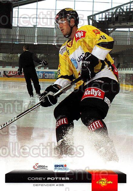 2012-13 Erste Bank Eishockey Liga EBEL #343 Corey Potter<br/>1 In Stock - $2.00 each - <a href=https://centericecollectibles.foxycart.com/cart?name=2012-13%20Erste%20Bank%20Eishockey%20Liga%20EBEL%20%23343%20Corey%20Potter...&quantity_max=1&price=$2.00&code=550789 class=foxycart> Buy it now! </a>